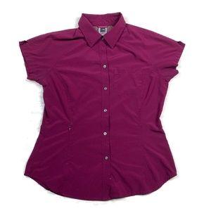North Face Button Shirt Hiking Purple
